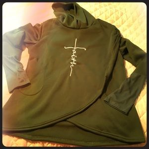 Tops - HP 🙏🏻 FAITH Long Sleeve Hoodie Sweatshirt